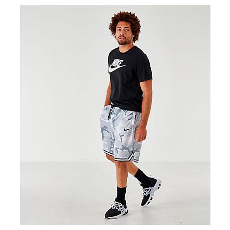 Nike Men's Dri-fit Dna Camo Basketball Shorts In Grey