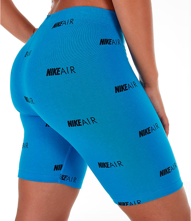 Detail 2 view of Women's Nike Air Allover Print Bike Shorts in Light Photo Blue/White