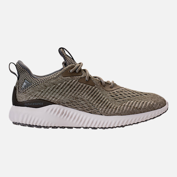 Right view of Women's adidas AlphaBounce EM Running Shoes in Trace Olive/Trace Cargo/Grey