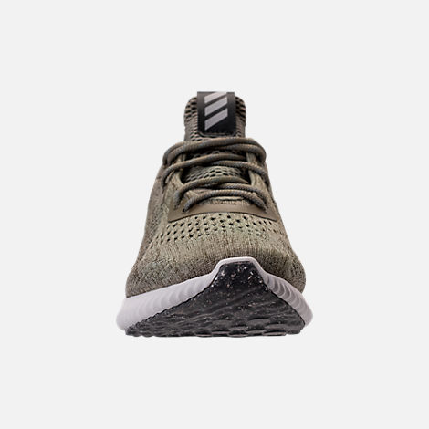 Front view of Women's adidas AlphaBounce EM Running Shoes in Trace Olive/Trace Cargo/Grey