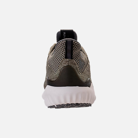 Back view of Women's adidas AlphaBounce EM Running Shoes in Trace Olive/Trace Cargo/Grey