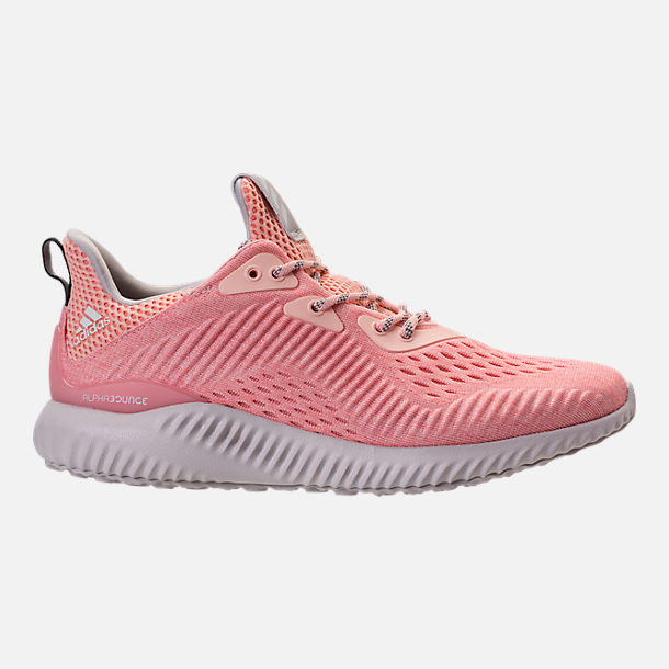 Right view of Women's adidas AlphaBounce EM Running Shoes in Icey Pink/Trace Pink/Grey