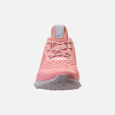 Front view of Women's adidas AlphaBounce EM Running Shoes in Icey Pink/Trace Pink/Grey