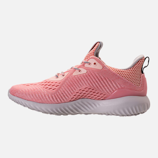Left view of Women's adidas AlphaBounce EM Running Shoes in Icey Pink/Trace Pink/Grey