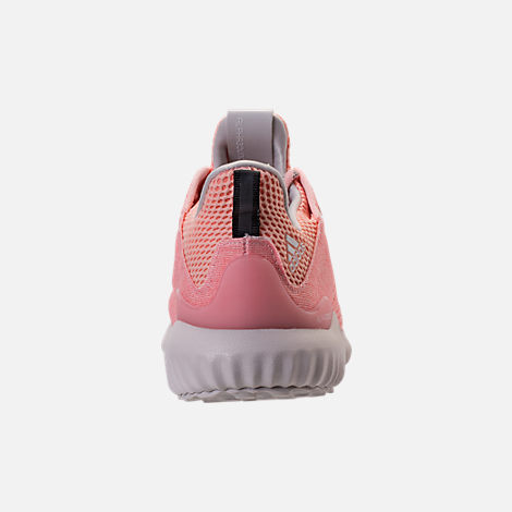Back view of Women's adidas AlphaBounce EM Running Shoes in Icey Pink/Trace Pink/Grey