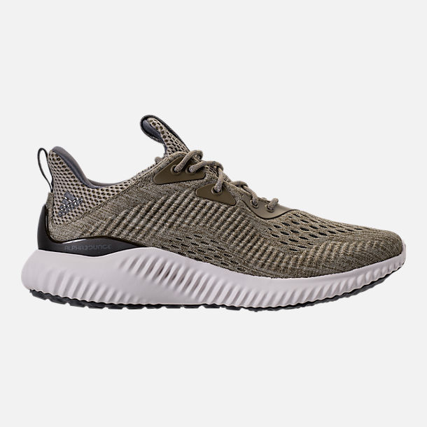 Right view of Men's adidas AlphaBounce EM Running Shoes in Trace Olive/Trace Cargo/Grey