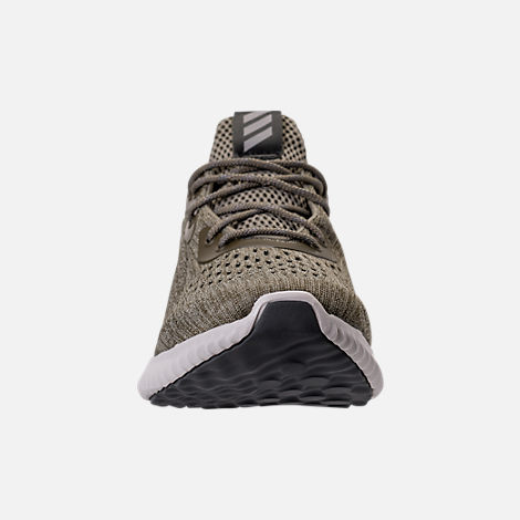 Front view of Men's adidas AlphaBounce EM Running Shoes in Trace Olive/Trace Cargo/Grey