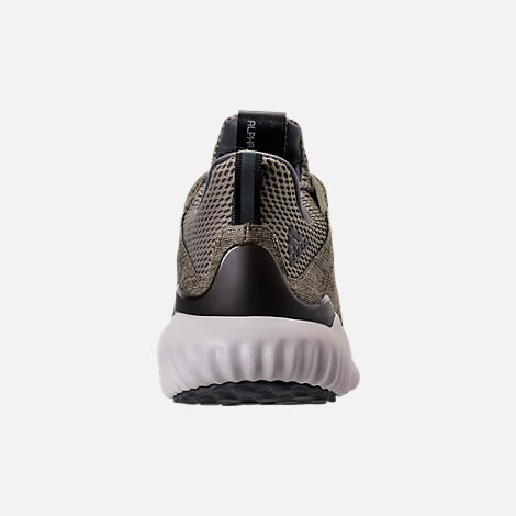 Back view of Men's adidas AlphaBounce EM Running Shoes in Trace Olive/Trace Cargo/Grey
