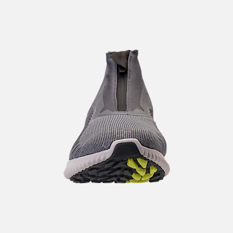 Front view of Men's adidas AlphaBounce 5.8 Zip Running Shoes in Grey/White