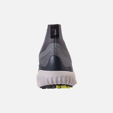Back view of Men's adidas AlphaBounce 5.8 Zip Running Shoes in Grey/White