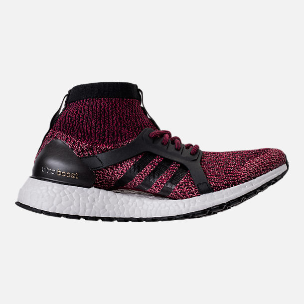 Right view of Women's adidas UltraBOOST X ATR Running Shoes in Mystery Ruby/Core Black/Trace Pink