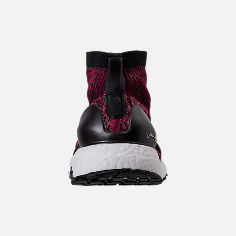 Back view of Women's adidas UltraBOOST X ATR Running Shoes in Mystery Ruby/Core Black/Trace Pink