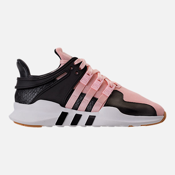 Right view of Girls' Grade School adidas EQT Support ADV Casual Shoes in Icey Pink/White Snake