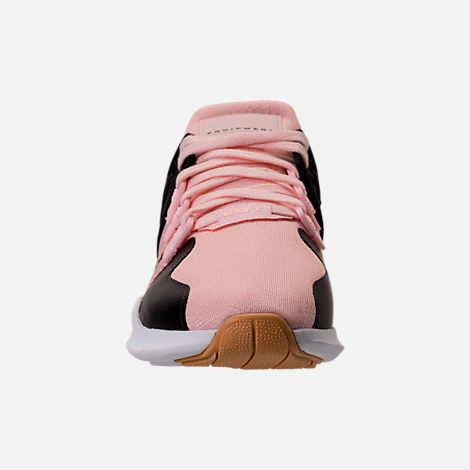 Front view of Girls' Grade School adidas EQT Support ADV Casual Shoes in Icey Pink/White Snake