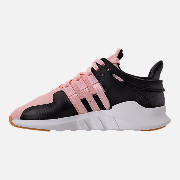 Left view of Girls' Grade School adidas EQT Support ADV Casual Shoes in Icey Pink/White Snake