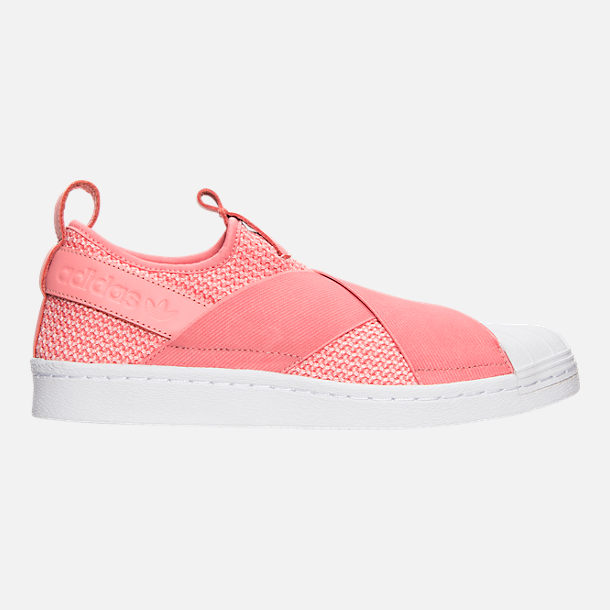Right view of Women's adidas Originals Superstar Slip-On Casual Shoes in Tactile Rose/Tactile Rose