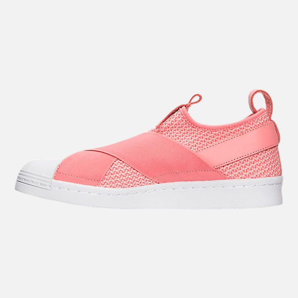 Left view of Women's adidas Originals Superstar Slip-On Casual Shoes in Tactile Rose/Tactile Rose