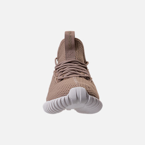Front view of Men's adidas Tubular Doom Sock Primeknit Casual Shoes in Sesame/Clear Brown/Crystal White