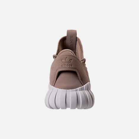 Back view of Men's adidas Tubular Doom Sock Primeknit Casual Shoes in Sesame/Clear Brown/Crystal White