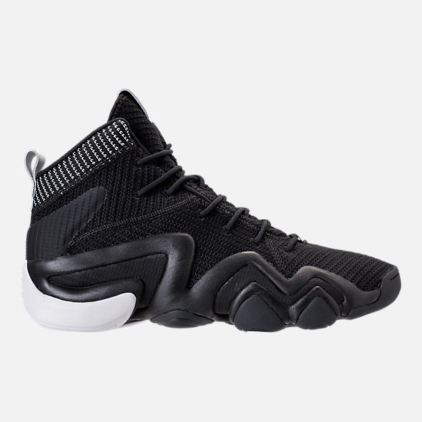 Right view of Men's adidas Crazy 8 ADV Primeknit Basketball Shoes in Black/Black/White