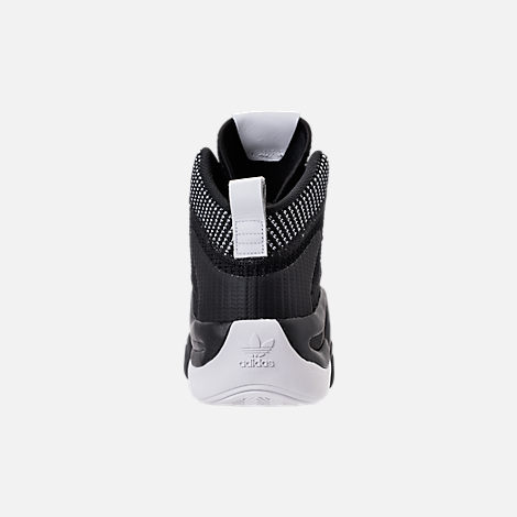 Back view of Men's adidas Crazy 8 ADV Primeknit Basketball Shoes in Black/Black/White