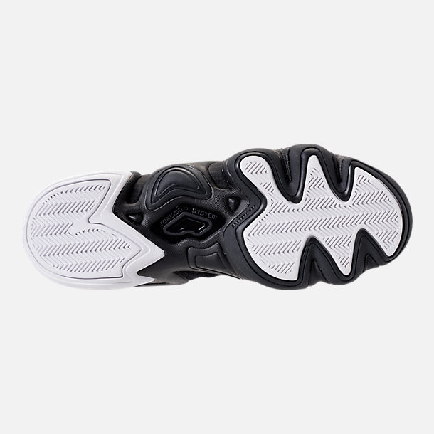 Bottom view of Men's adidas Crazy 8 ADV Primeknit Basketball Shoes in Black/Black/White