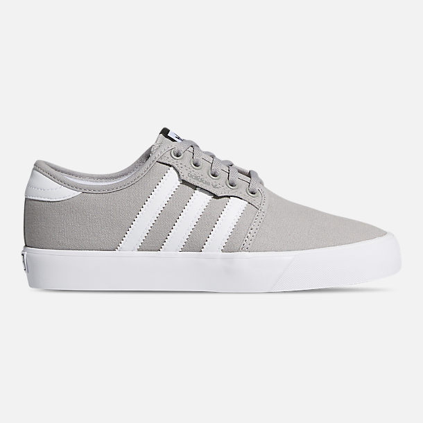 Right view of Boys' Little Kids' adidas Seeley Casual Skate Shoes in Multi Solid Grey/Cloud White/Cloud White