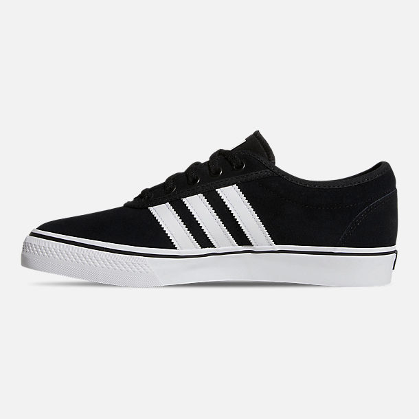 Left view of Men's adidas Adiease Casual Skate Shoes in Core Black/Cloud White/Core Black