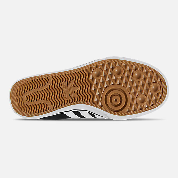 Bottom view of Men's adidas Adiease Casual Skate Shoes in Core Black/Cloud White/Core Black