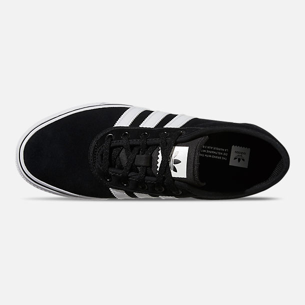 Top view of Men's adidas Adiease Casual Skate Shoes in Core Black/Cloud White/Core Black