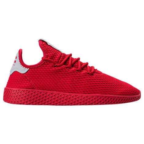Adidas Originals Sports MEN'S ORIGINALS PHARRELL WILLIAMS TENNIS HU CASUAL SHOES, RED