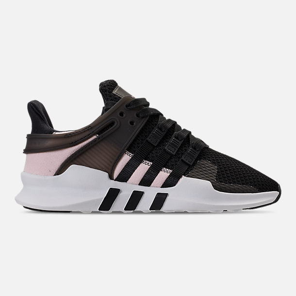 Right view of Women's adidas EQT Support ADV Casual Shoes in Black/Black/White