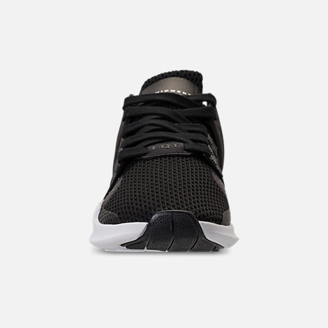 Front view of Women's adidas EQT Support ADV Casual Shoes in Black/Black/White