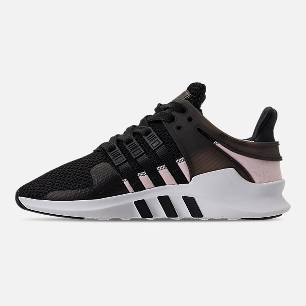 Left view of Women's adidas EQT Support ADV Casual Shoes in Black/Black/White
