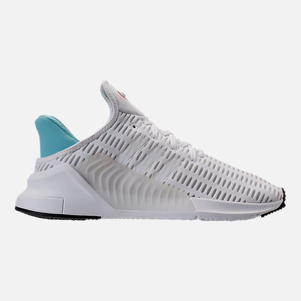 Right view of Women's adidas ClimaCool ADV Casual Shoes in White/Light Aqua