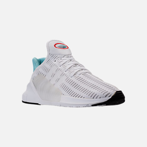 Three Quarter view of Women's adidas ClimaCool ADV Casual Shoes in White/Light Aqua