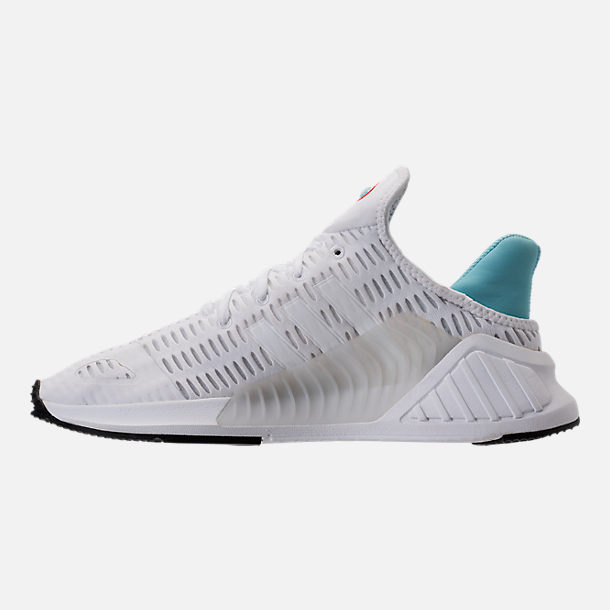Left view of Women's adidas ClimaCool ADV Casual Shoes in White/Light Aqua