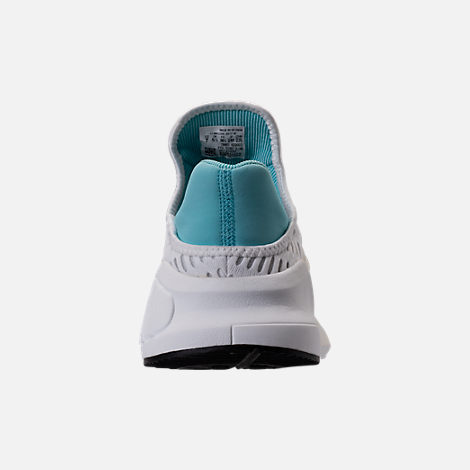 Back view of Women's adidas ClimaCool ADV Casual Shoes in White/Light Aqua