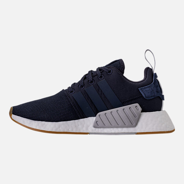Left view of Women's adidas NMD R2 Casual Shoes in Legend Ink/Trace Blue/Grey