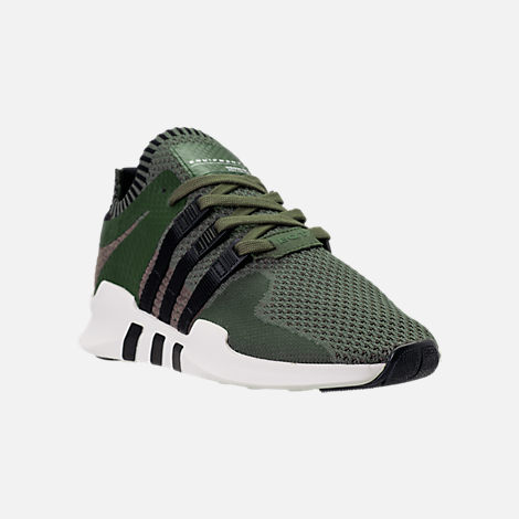 Three Quarter view of Men's adidas EQT Support ADV Primeknit Casual Shoes in ST Major/Core Black/Branch