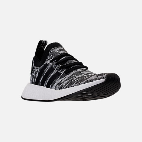 Three Quarter view of Men's adidas NMD R2 Primeknit Casual Shoes