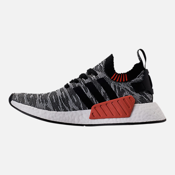 Left view of Men's adidas NMD R2 Primeknit Casual Shoes