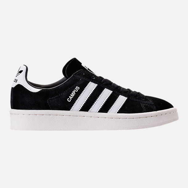 Right view of Boys' Grade School adidas Campus Casual Shoes in Core Black/White/Chalk White