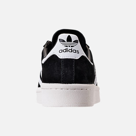 Back view of Boys' Grade School adidas Campus Casual Shoes in Core Black/White/Chalk White