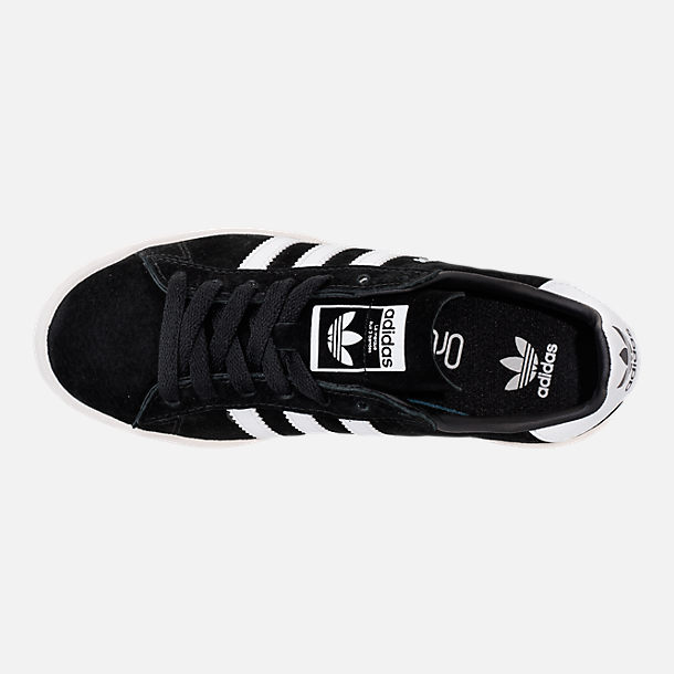Top view of Boys' Grade School adidas Campus Casual Shoes in Core Black/White/Chalk White
