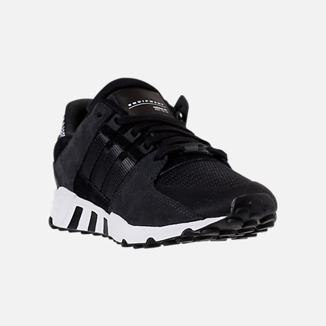 Three Quarter view of Men's adidas EQT Support RF Casual Shoes in Core  Black/Carbon