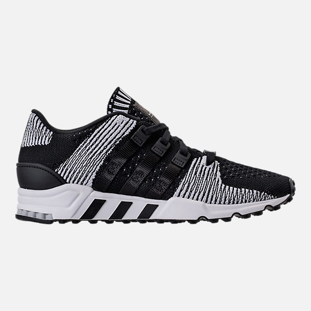 Right view of Men's adidas EQT Support RF Primeknit Casual Shoes in Core Black/Footwear White
