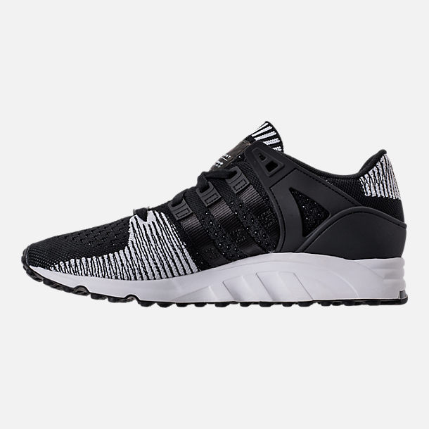 Left view of Men's adidas EQT Support RF Primeknit Casual Shoes in Core Black/Footwear White
