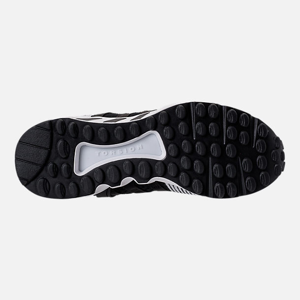Bottom view of Men's adidas EQT Support RF Primeknit Casual Shoes in Core Black/Footwear White