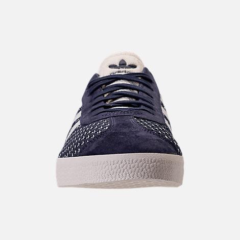 Front view of Men's adidas Originals Gazelle Primeknit Casual Shoes in  Nemesis/Off White/